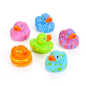 12 Colourful Pattern Rubber Ducky Party Favours