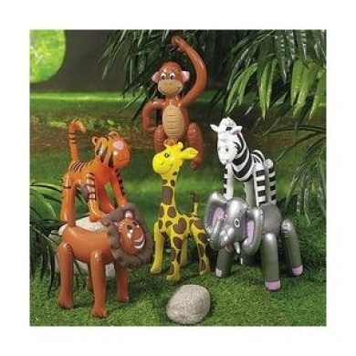 6 Inflatable ZOO ANIMALS/JUNGLE/Safari PARTY DECOR/Elephant/TIGER/LION/ZEBRA/MONKEY/GIRAFFE/INFLATES/DECORATIONS/PARTY favours