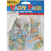 Amscan 390458 Party Favors 12/Pkg Rainforest Friends Puzzle