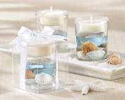 Seashell Gel Tealight Holder with palm wax
