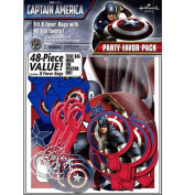 """Marvel's """"Captain America : The First Avenger"""" : Party Favour Pack - Enough for 8 guests!"""