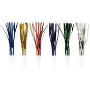 Metallic Fringe Squawkers 8/Pkg-Assorted Colours