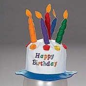 Felt Childs Party Happy Birthday Cake Hat with Candles