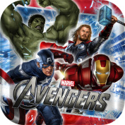 The Avengers Party 18cm Square Paper Cake/Dessert Plates