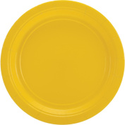 Big Party Pack Paper Luncheon Plates 18cm , 60/Pkg, Sunshine Yellow