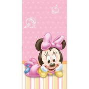 Baby Minnie Mouse 1st Birthday Table Cover - Minnie's First Birthday Party Plastic Tablecover