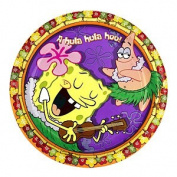 Spongebob Squarepants Luau Birthday Party Dessert Plates