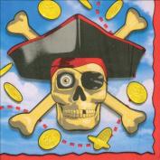 25cm Beverage Napkins - 16PK/Pirates Bounty