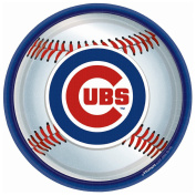 Costumes 203780 Chicago Cubs Baseball- Round Dinner Plates