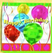 "Balloon Brights ""Happy Birthday"" Lunch Napkins"