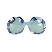 Mod Blue Purple and Grey Mirrored Glasses