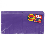New Purple Big Party Pack - Lunch Napkins (125 count), 2 ply