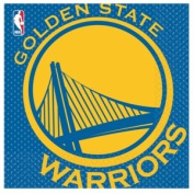 Costumes 203648 Golden State Warriors Basketball- Lunch Napkins