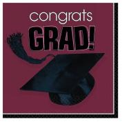 Amscan 202434 Congrats Grad Berry Graduation Lunch Napkins