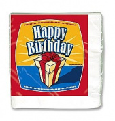 "Party Napkins ""Birthday Presents"" (17cm ) - 16 cnt"
