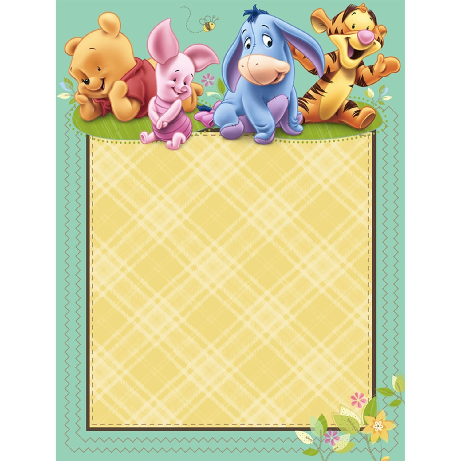 Baby Pooh Baby Shower Invitations - Printable Winnie the Pooh Baby ...