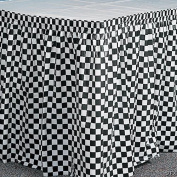 Plastic Table Skirt, Chequered