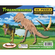 Puzzled 1008 Tyrannosaurus 3D Natural Wood Puzzle - 28 Pieces