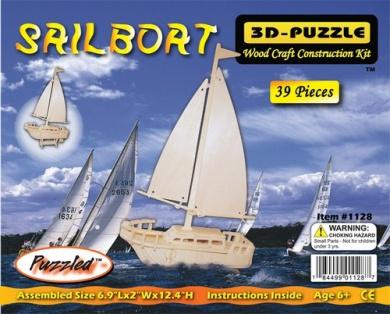 Sailboat Woodcraft Construction Kit