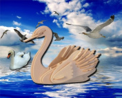 Swan 3D Wooden Puzzle Wood Craft Construction Kit Model Hobby Toy Bird