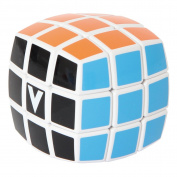 Orbet VCB-3B-WHITE 3x3x3 White Multicolor Cube - Pillowed