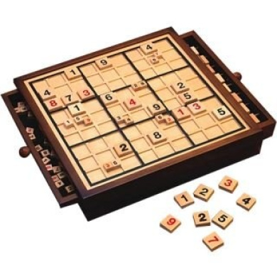 Bits and Pieces Deluxe Wooden Sudoku Gameboard