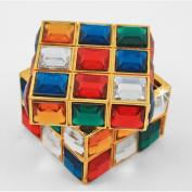 "Objet D'Art Release #270cm Rubik's Jewels"" Famous Puzzle Handmade Jewelled Metal & Enamel Trinket Box"