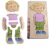 Beleduc 17128 Layer Puzzle 5 Pieces 'Your Body' for Girls