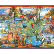 White Mountain Puzzles 150508 Jigsaw Puzzle 1000 Pieces 24 in. x 30 in. -National Parks