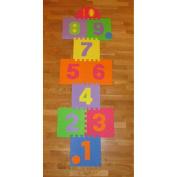 Hopscotch Playmat Foam Interlocking Puzzle Floor Mat - 10 Large Number Tiles