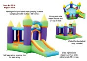 Bounceland Magic Castle Bounce House Inflatable Bouncer - Green/ Purple/ Yellow