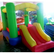My Bouncer Little Slide Castle Bounce 300cm L x 200cm W x 200cm H w/ 2 Built-in Hoops - Phthalate Free Puncture Resist Nylon Material Ball Pit Popper - 4 Models & 6 Sizes Available
