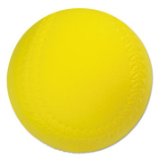 Coated Foam Sport Ball, Softball, Official Size, Yellow