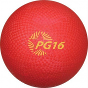 Champion Sports 41cm Rubber Playground Dodgeball Kickball Ball New PG16-RED