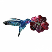 Next Innovations WA3DHUMMIFLRFS CB Hummingbird with Flower Refraxions 3D Wall Art, Fuchsia