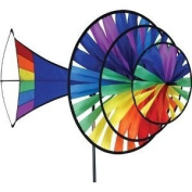 Premier Kites Large Triple Wind Spinner - Rainbow