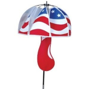 Magic Mushroom Patriotic Outdoor Lawn Spinner
