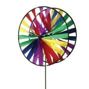 Premier Kites Twin Wheel Wind Spinner (60cm ) - Rainbow