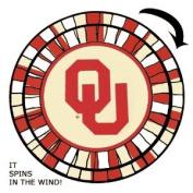 Oklahoma Sooners - Wind Spinner