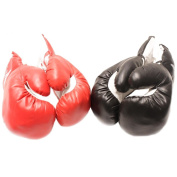 2 Pair(1Rd&1Blk) 120ml Youth Boxing Gloves-Punching Glove