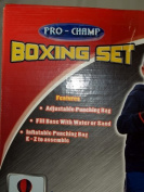 Pro Champ Childrens Boxing Sports Set With Gloves Punching Ball Bag Kids Toy