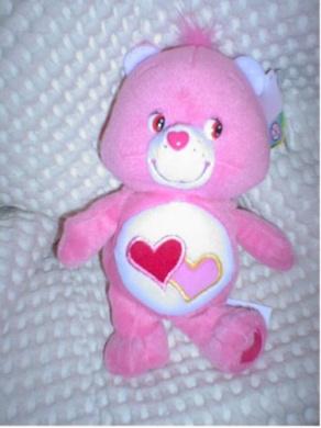 Care Bear Love a Lot Bear 20cm Plush Stuffed Toy Play Along
