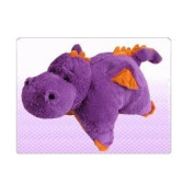 Purple Dragon ZooPurr Pets Stuffed Animal and Pillow Large 48cm