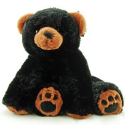 Super Soft & Floppy Stuffed Black Bear Plush Toy with Weighted Feet - Stands up 28cm