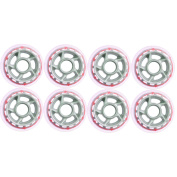 Barbed Wire 8 Inline Skate Wheels 80mm 80a, Clear/Grey