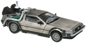 """1/18 Diecast Model Delorean Time Machine From """"Back to the Future 2"""" Movie"""