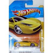 Mattel Hot Wheels 2010 Hot Wheels Premiere Blazing Yellow FERRARI 458 Italia Supercar Die Cast Toy Vehicle