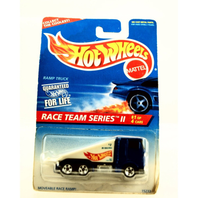 Hot Wheels - 1995 - Race Team Series II - Ramp Truck - Collector #392 - Limited Edition - Collectible 1:64 Scale