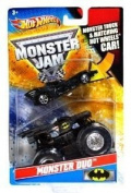Hot Wheels Monster Jam Monster Duo BATMAN 1:64 Scale Collectible Truck with Hot Wheels '89 Movies Batmobile Car