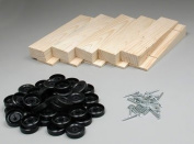 Pine Car Derby Bulk Pack Kits W/Wheels & Axles, Wedge